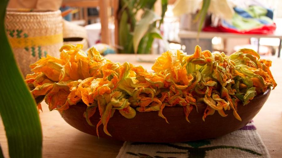 Quesadilla de flor de calabaza
