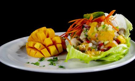 Ceviche de dorado y mango