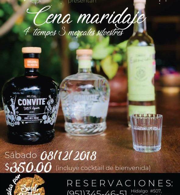 Cena maridaje Doba Yej y Convite Mezcal Premium