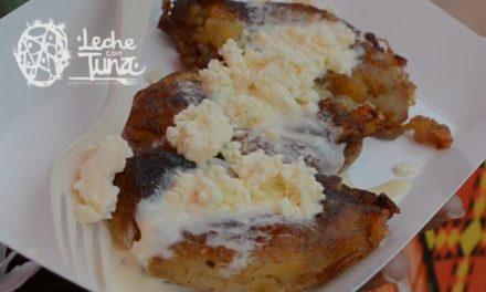 Molotitos de plátano con crema y queso, un rico postre de Tehuantepec