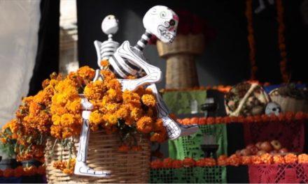 Altar monumental de Muertos en Oaxaca de Juárez