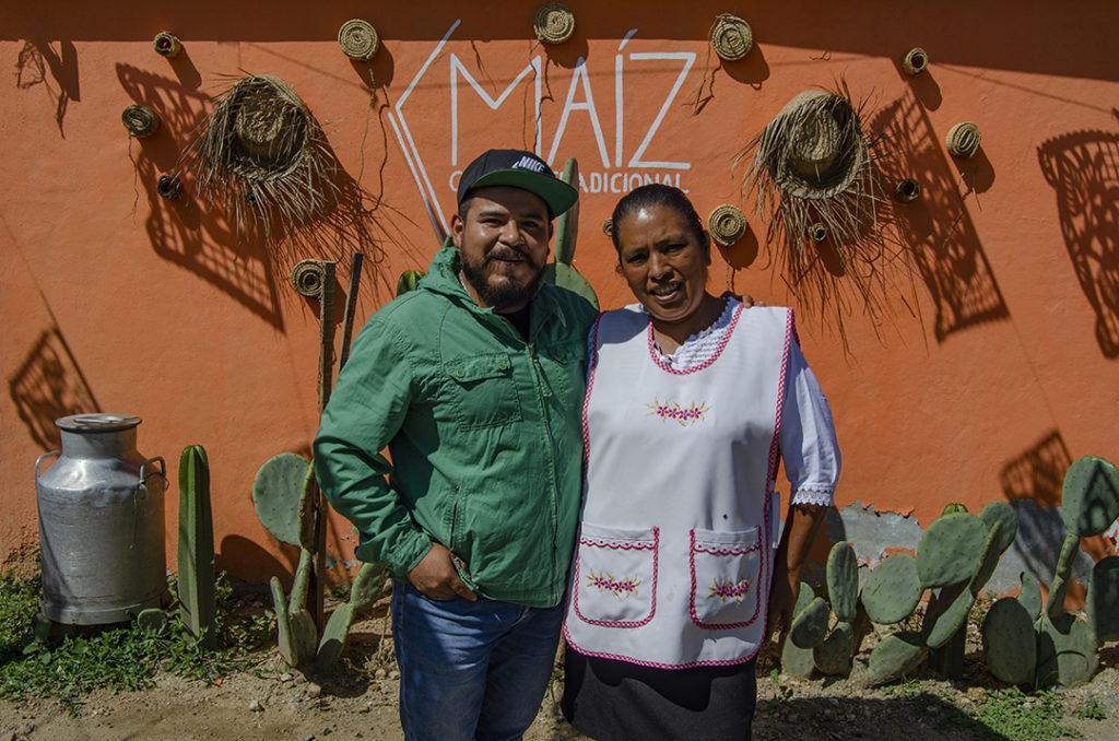 El chef Paul, de Doba Yej, en su visita a Maíz.