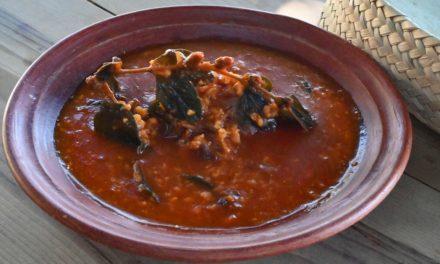 Mole de maíz, el guiso tradicional de Coatecas Altas, Ejutla